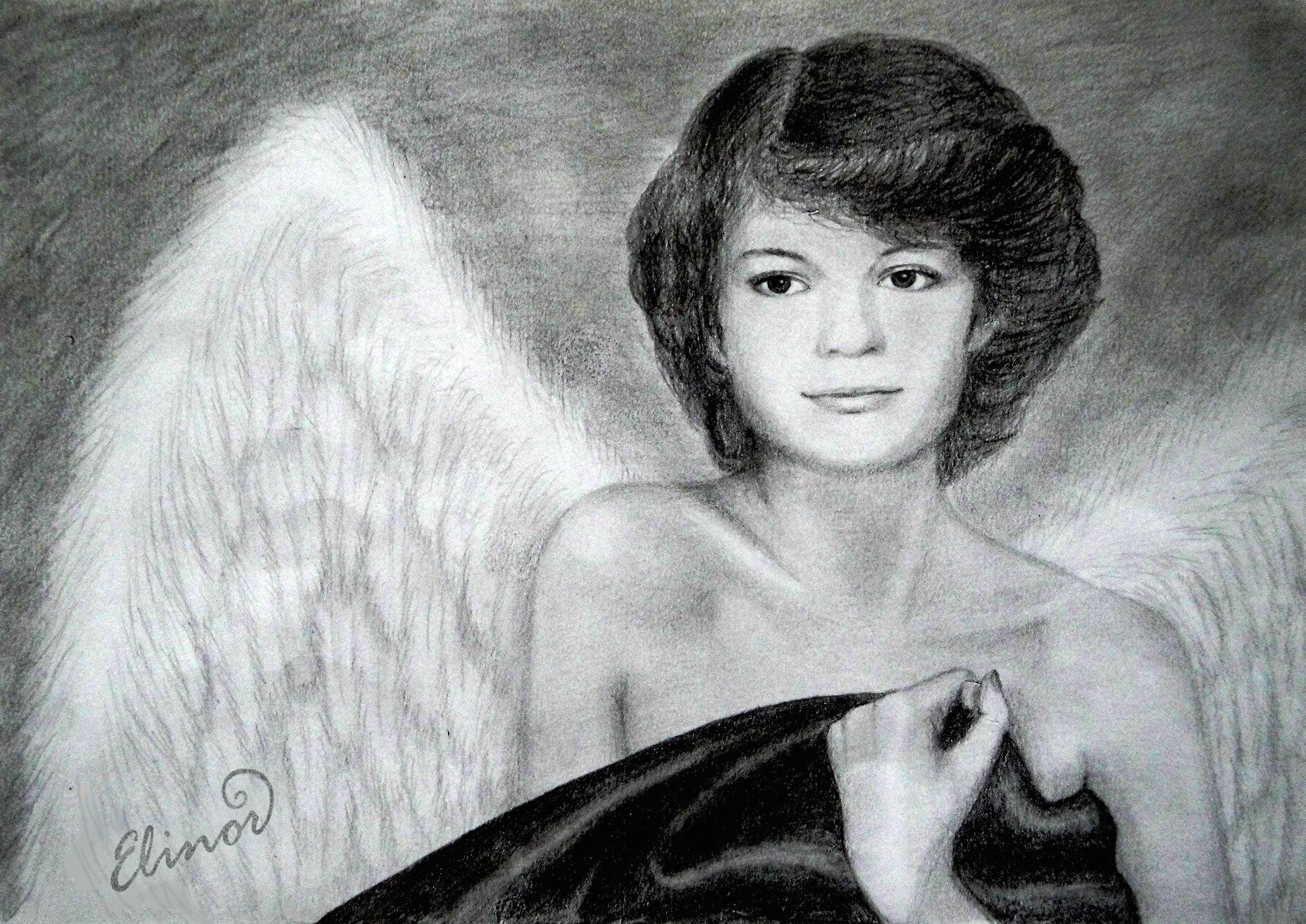 Krásný anděl žena dívka