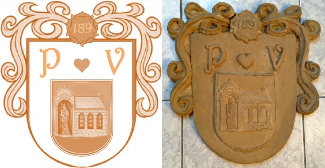 Nepomuk Erb iniciály P a V a číslem domu
